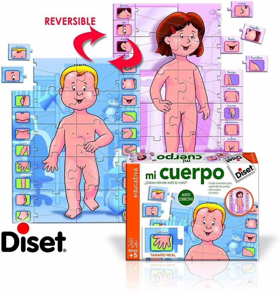 puzzle educativo diset mi cuerpo