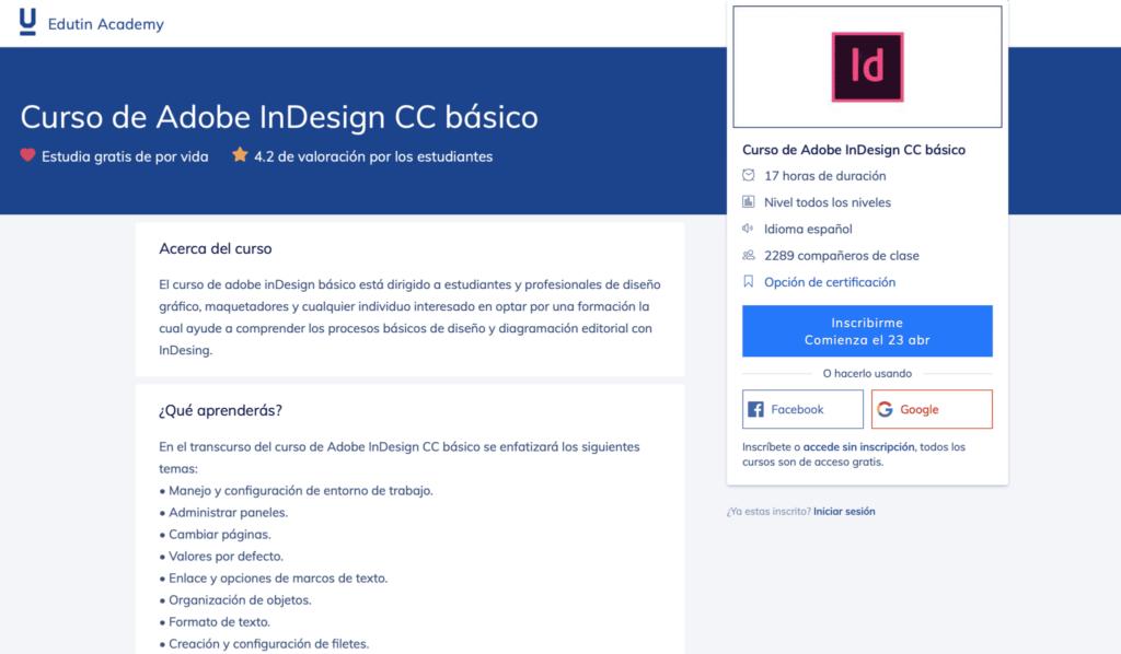 Curso de Adobe InDesign CC básico