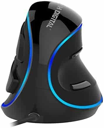 ratones ergonómicos JTD Wired Blue LED