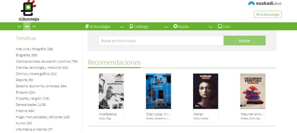 Biblioteca Digital de Euskadi: libros electrónicos gratuitos