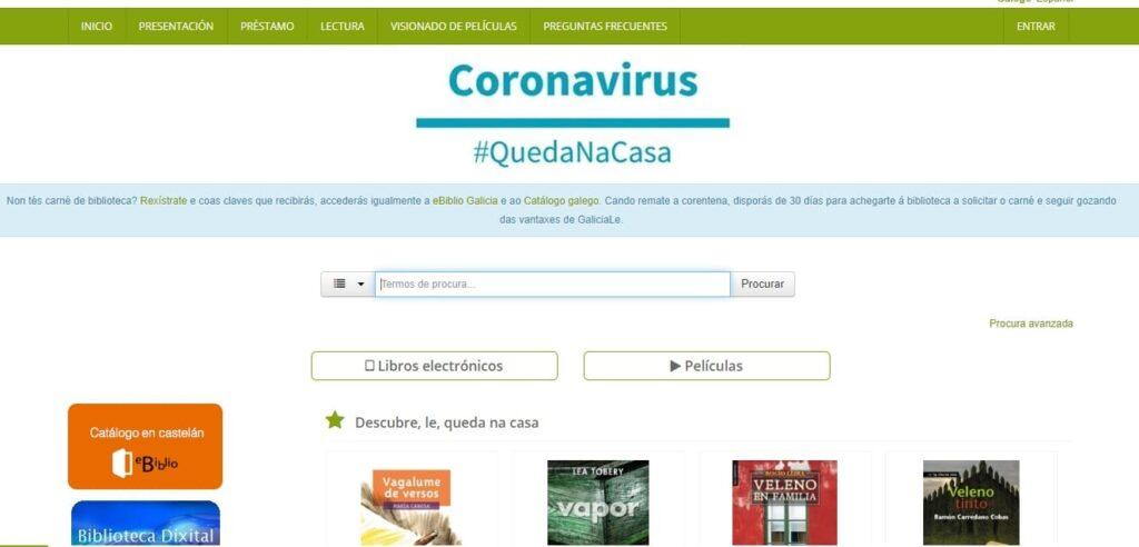 Galicia Le: Bibliotecas online