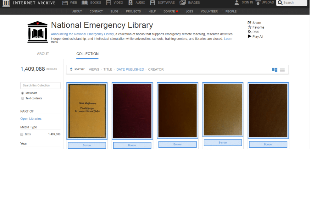 Nacional Emergency Library