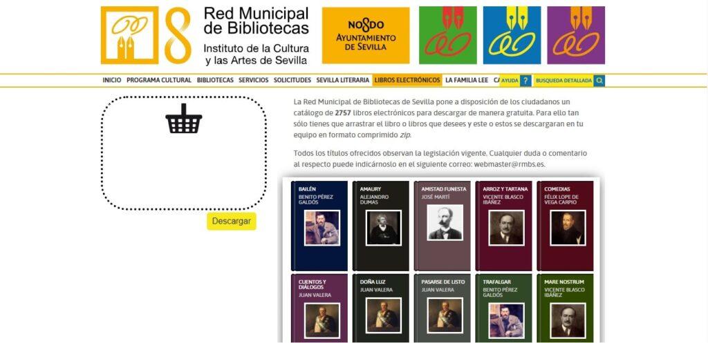 Red Municipal de Bibliotecas de Sevilla: libros electrónicos gratuitos