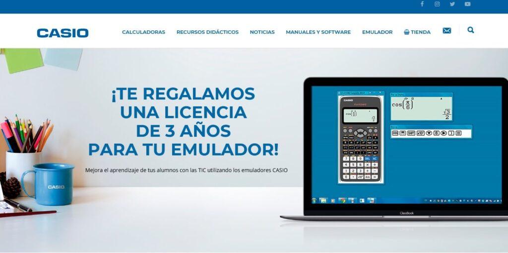 Emulador para calculadoras escolares