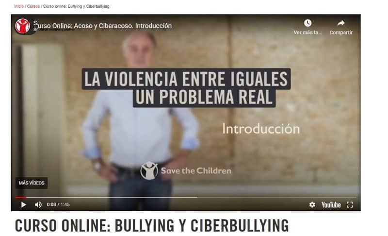 Curso online: Bullying y Ciberbullying