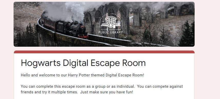 Hogwart digital Escape Room