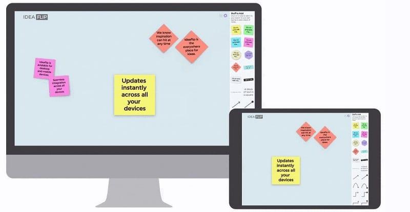 IdeaFlip herramientas para trabajar en grupo