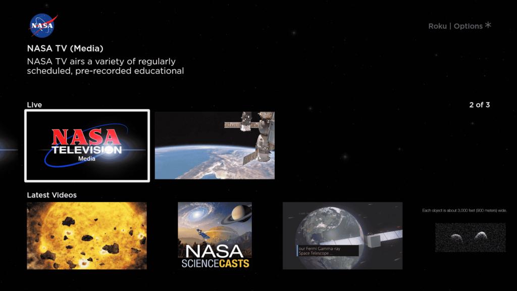 NASA aplicación