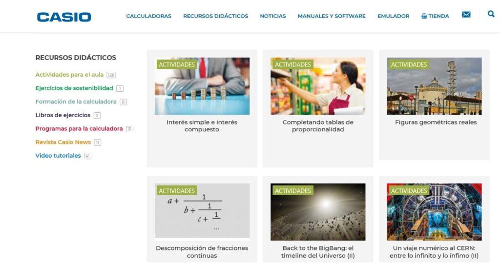 Emulador para calculadoras escolares y recursos gratuitos de Casio