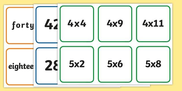 Juegos de mesa para multiplicar