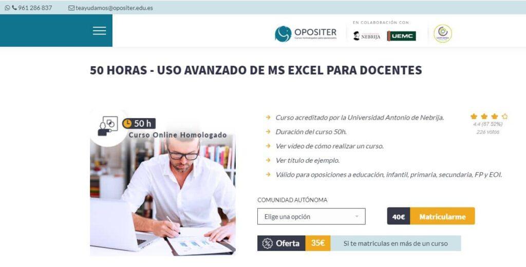 Uso avanzado de MS Excel para docentes