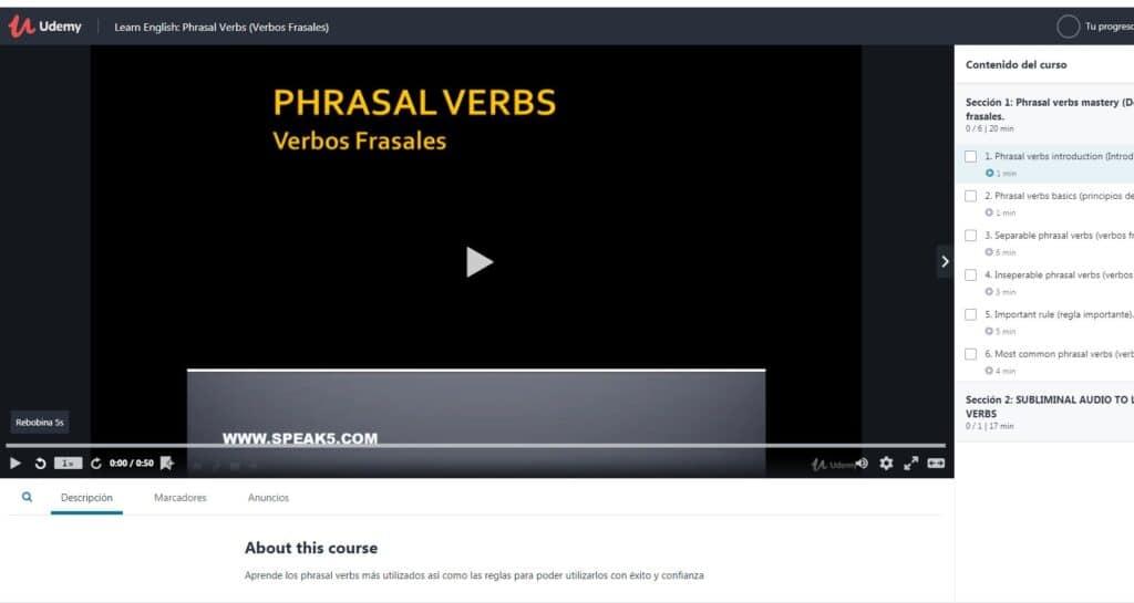 Apprendre l'anglais: verbes à particule