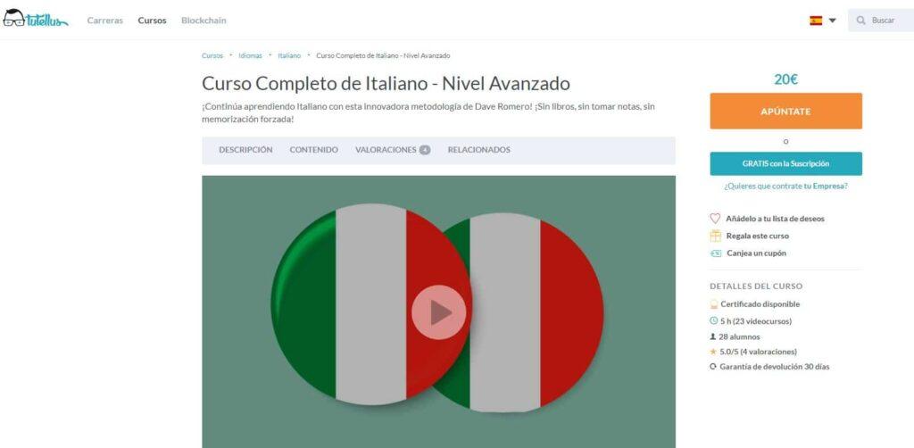 Curso completo de italiano nivel avanzado