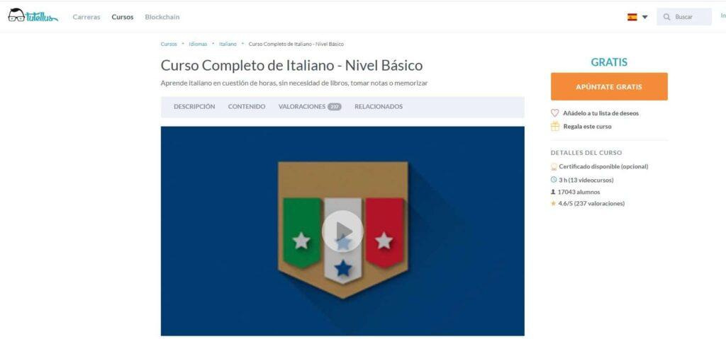 Curso completo de italiano nivel básico