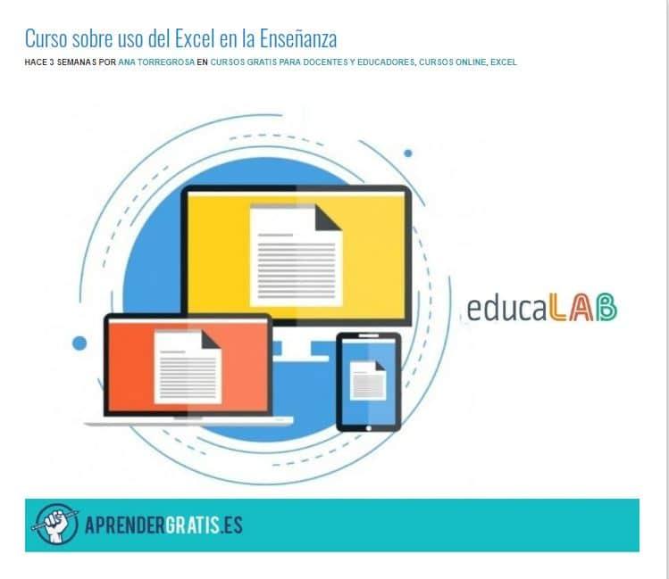 Curso sobre el uso de Excel en la enseñanza
