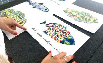 arte y diseño gráfico proyecto fishes