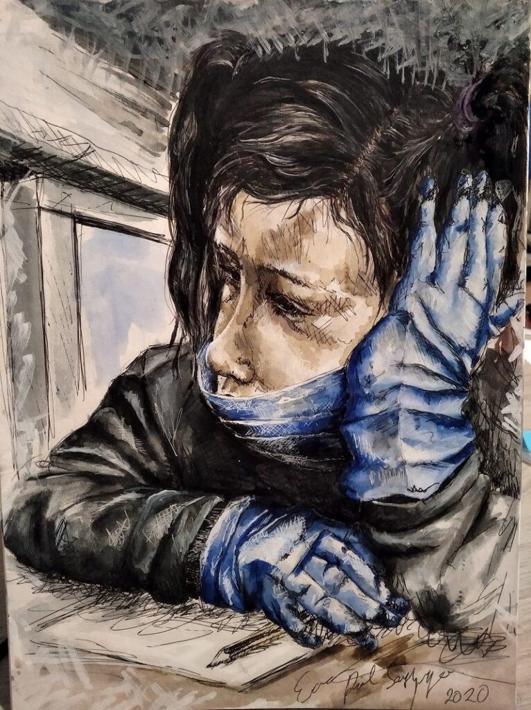 Más allá del balcón - cuaderno confinamiento Ilustración de Eva Prol Sanjurjo  - un recurso emocional gratuito para niños