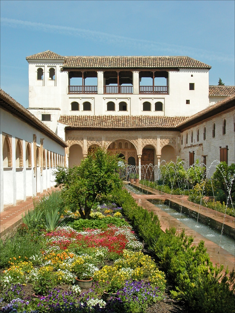 Los jardines del Generalife (Granada) jardines virtuales