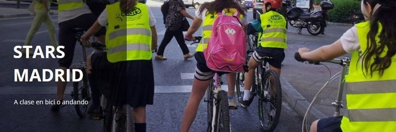 stars madrid - a clase en bici o andando