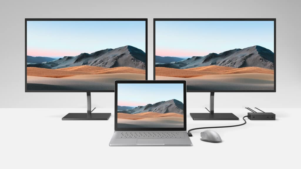 Surface Dock 2 con Surface Book 3