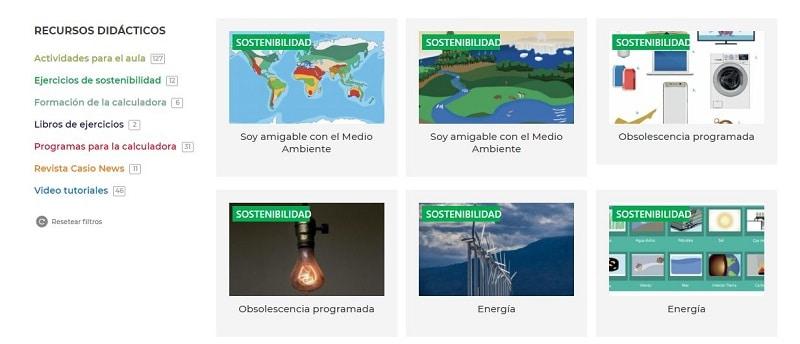 CASIO - recursos didácticos medioambiente