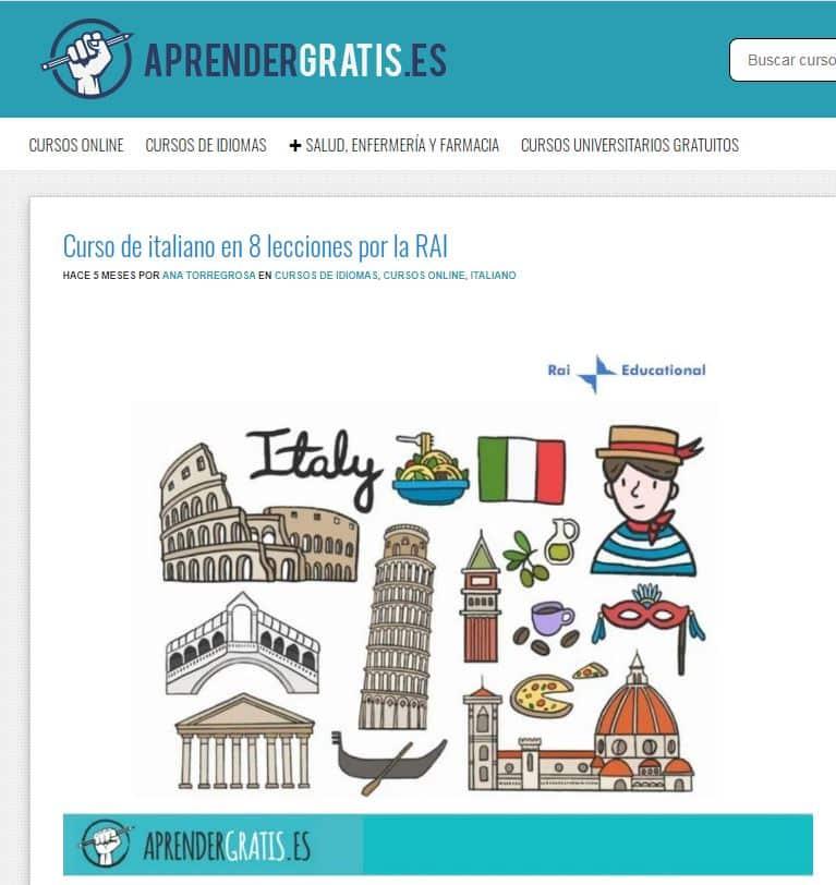 Curso online de italiano en 8 sesiones