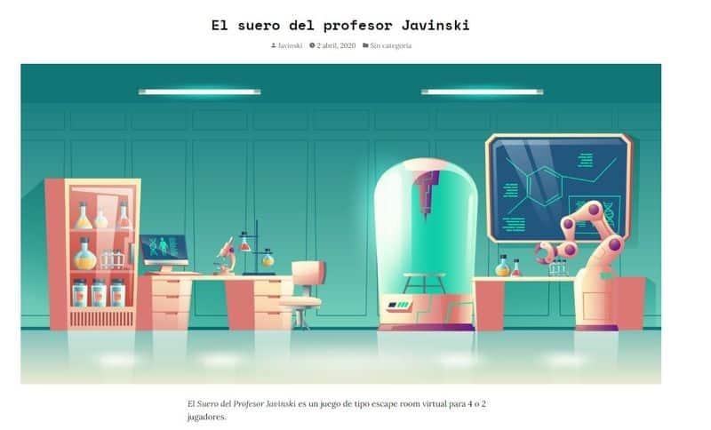 El suero del profesor Javinski