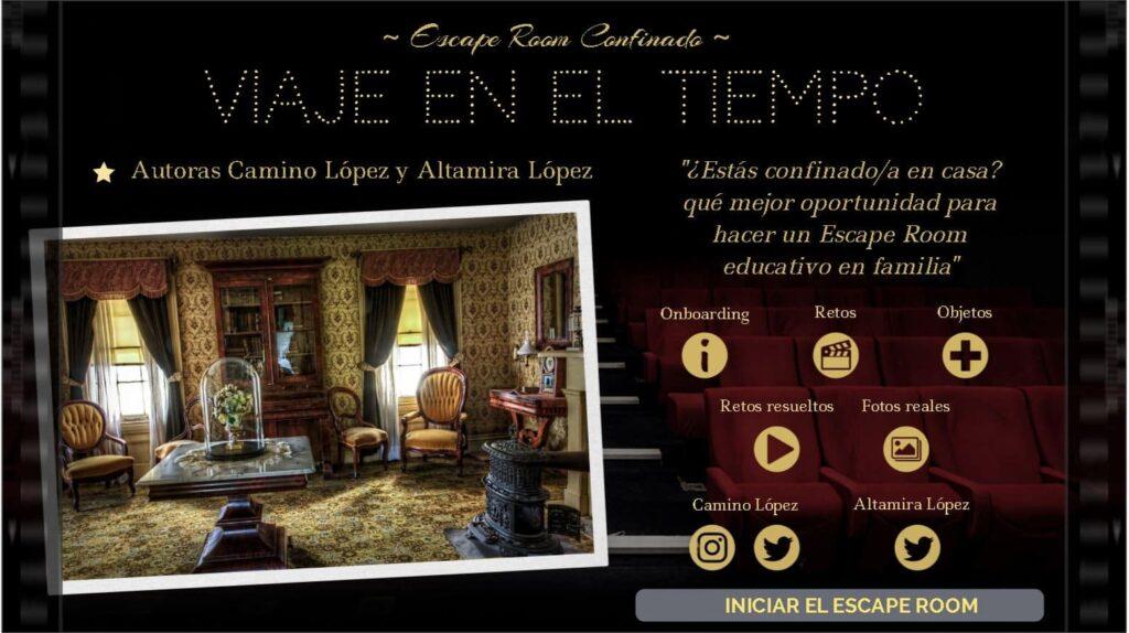 Pagina inicio del escape room - Camino Lopez y Altamira Lopez. Genially