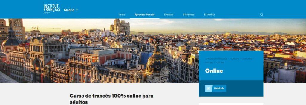 Cursos de francés 100% online para adultos
