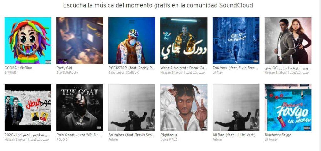 SoundCloud Bancos de música