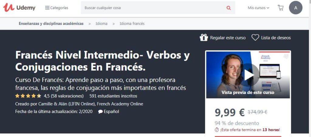Francés nivel intermedio: verbos y conjugaciones en francés
