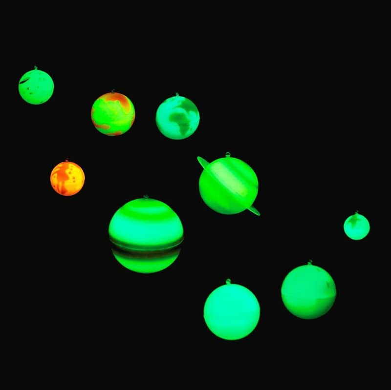 Un sistema solar en 3D