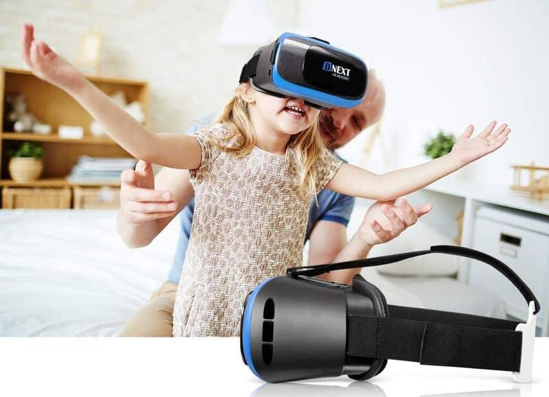 Gafas de realidad virtual gadgets viajar en casa