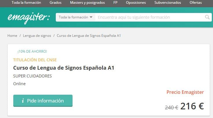 Curso online de lengua de signos española A1 emagister