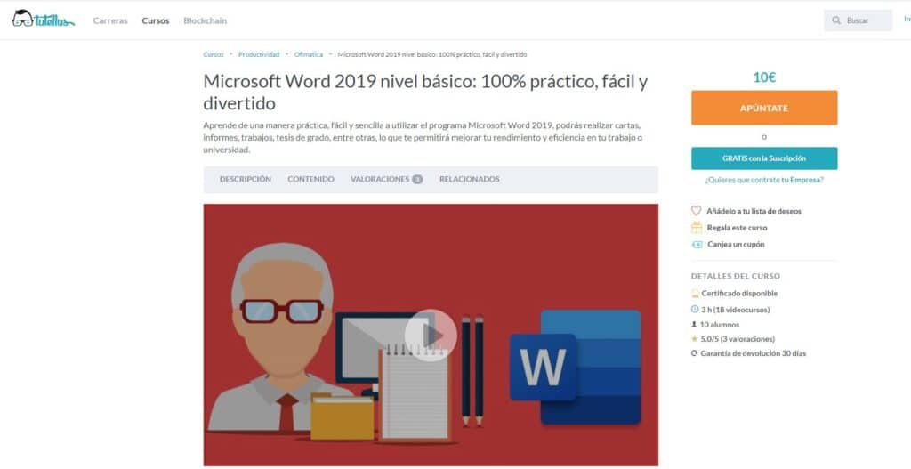 Microsoft Word 2019 nivel básico Tutellus