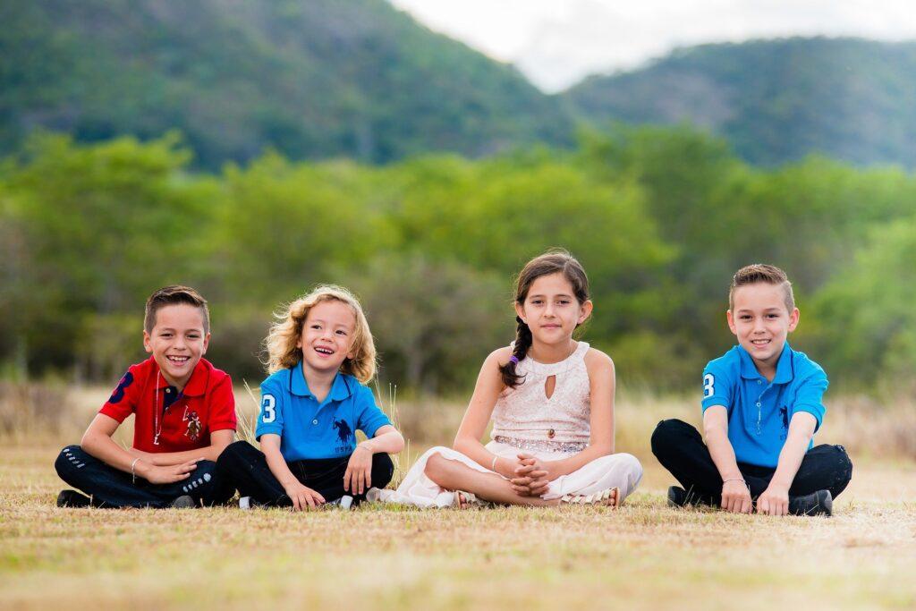 niños al aire libre síndrome de la cabaña