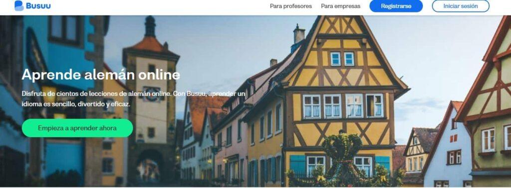 Aprende alemán online Busuu