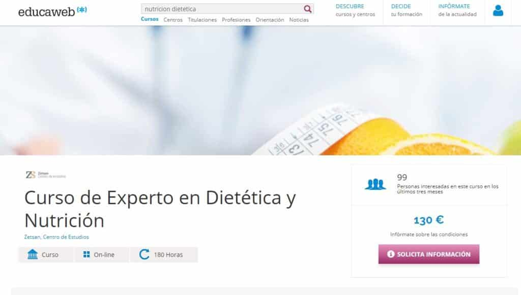 Curso de experto en dietética y nutrición