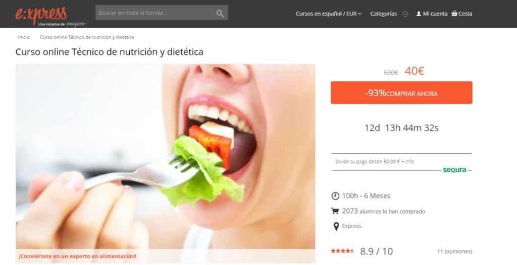 Curso online técnico dietética Emagister