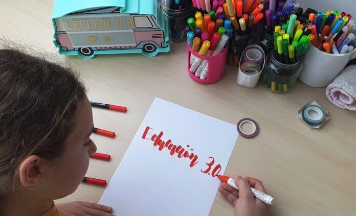 Una sesión de dibujo o lettering