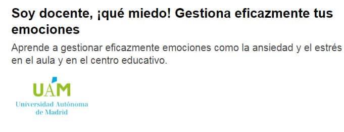 Soy docente, qué miedo de Universidad Autónoma de Madrid