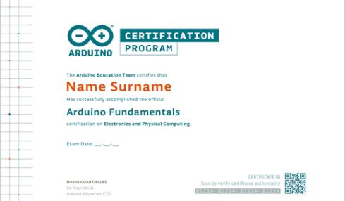 Certificación Arduino Education