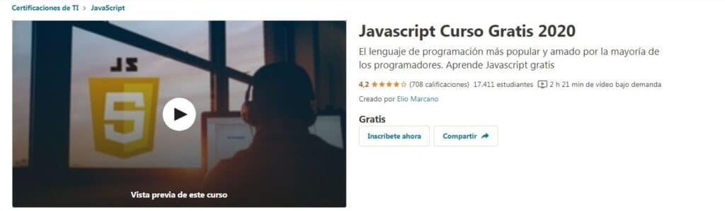 Javascript Curso Gratis 2020