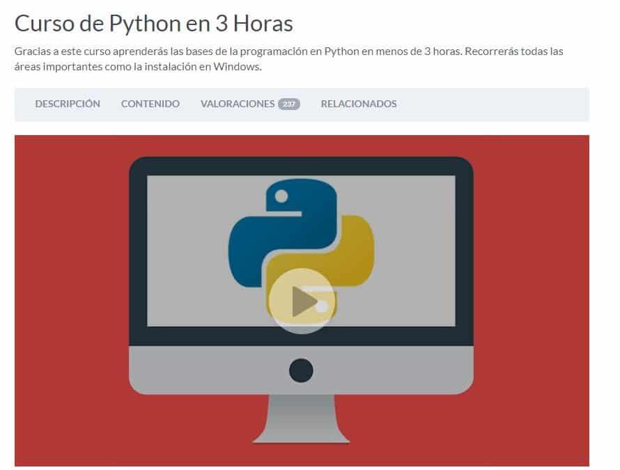 Curso de Python en 3 horas
