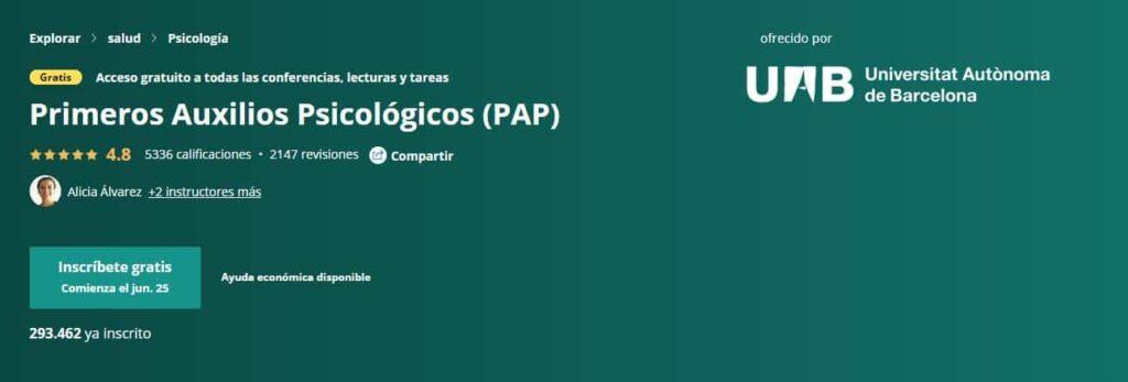 Primeros Auxilios Psicológicos Universidad Autónoma de Barcelona