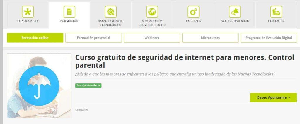 Curso gratuito de seguridad de Internet para menores. Control parental