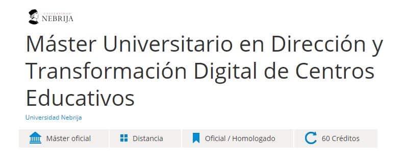 Máster universitario en dirección y transformación digital