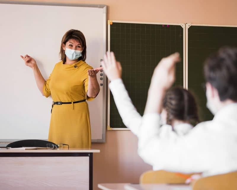 mascarillas profesores