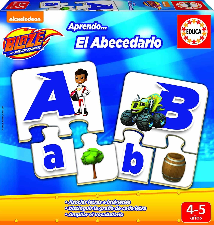 asociar las letras con juegos de mesa abecedario