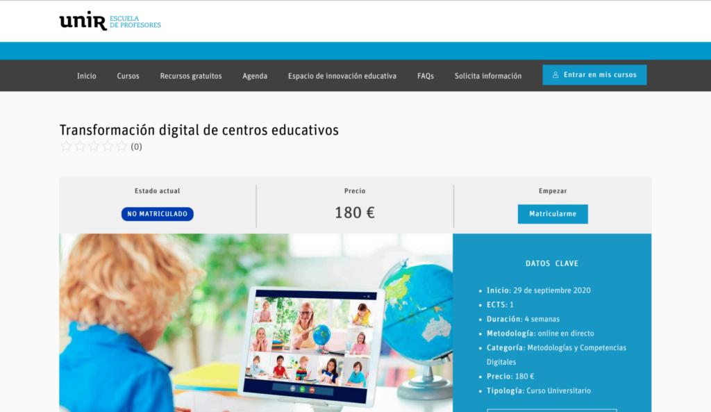 Transformación digital de centros educativos